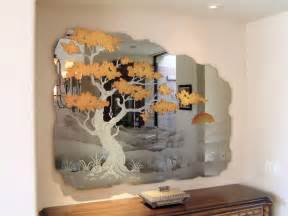 etched decorative mirror wall mural cypress tree jpg from sans soucie