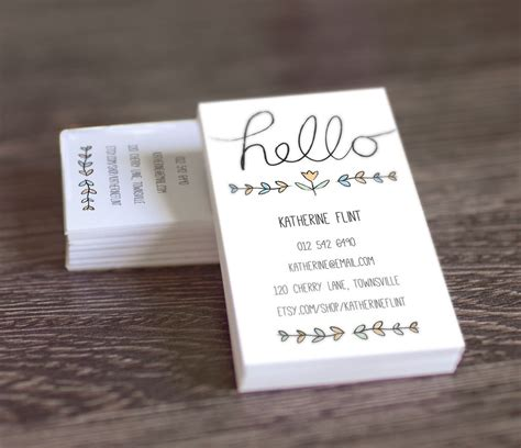 diy card template 8 best images of printable business card template