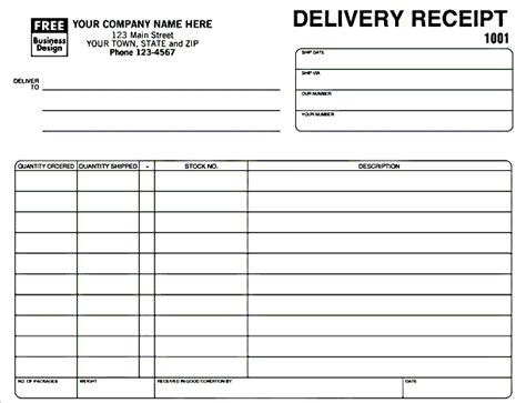 Receipt Of Delivery Template by Delivery Receipt Template In Excel Format Excel Project