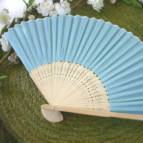 silk fans palm and bamboo fans wedding
