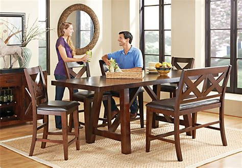 rooms to go counter height dining sets mango 6 pc counter height dining room dining room sets
