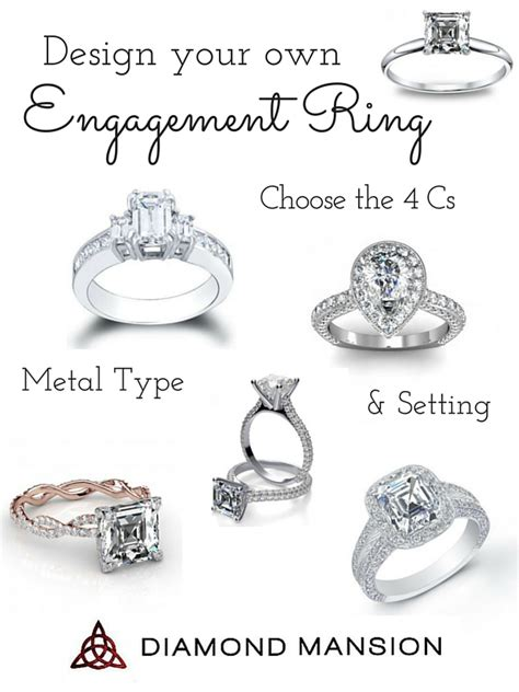 Design Your Engagement Ring by Design Your Own Engagement Ring With Mansion