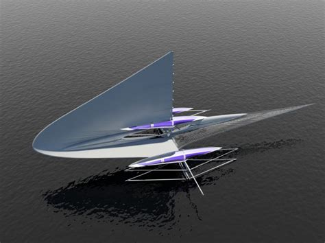 trimaran hydrofoil unique and beautiful concept yacht meet the fresnel