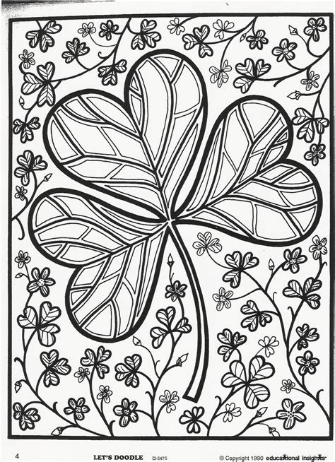 coloring pages for adults st patrick s day detailed st patricks day coloring sheet search results