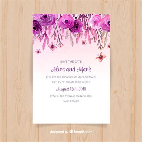convite de casamento flores em aquarela convite de casamento flores em aquarela baixar