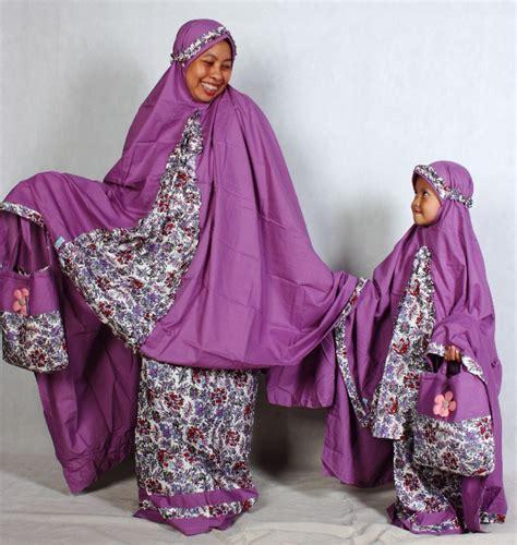 Mukena Bunga Purple mukena seragam ibu anak toko bunda