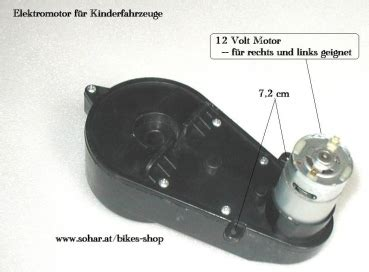 Kindermotorrad 12 Volt by 12 Volt Motor Mit Getriebe F 252 R Kinderfahrzeuge Motocross