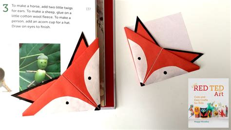 origami book marks fox crafts easy origami bookmark