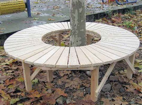 circle tree bench green retail hospitality business cctb series cedar full circle tree bench site