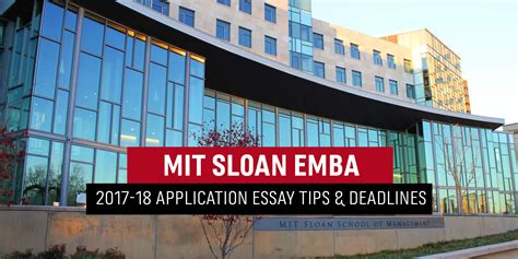 Mit Sloan Entrpreuer Mba by Mit Sloan Executive Mba Essay Tips Deadlines