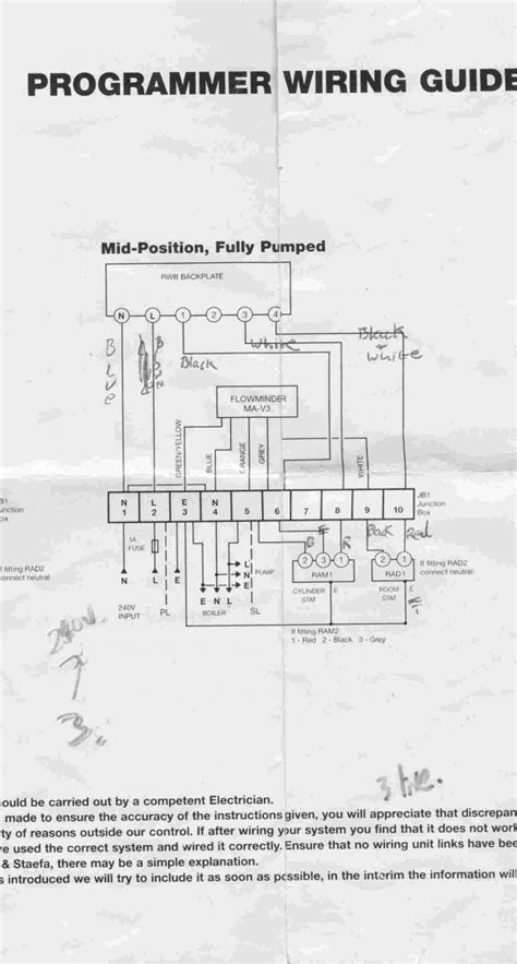 wiring diagram central heating programmer residential hvac