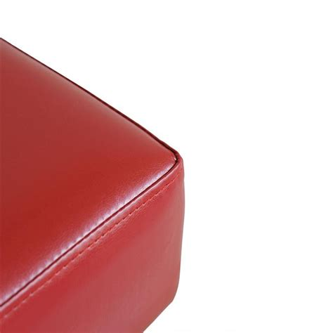 small faux leather ottoman homcom modern small pu leather ottoman footstool red