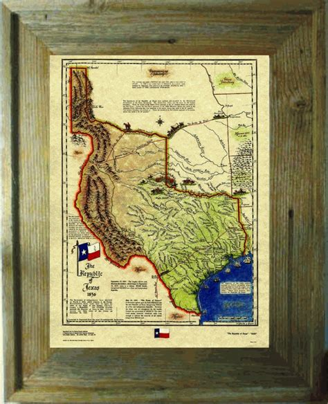 map of republic of texas in 1836 republic of texas historical map 1836 texas our texas pinter
