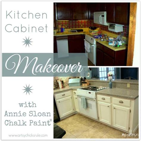 Stove In Kitchen Island by Kitchen Cabinet Makeover Annie Sloan Chalk Paint Artsy