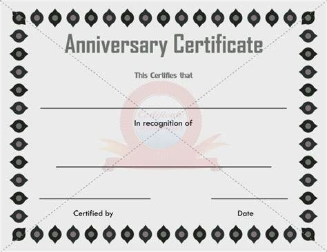 anniversary certificate template free 11 best images about anniversary certificate on