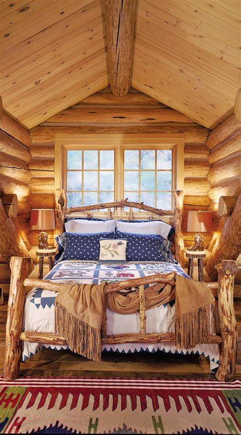 log cabin bed rustic bedrooms design ideas canadian log homes