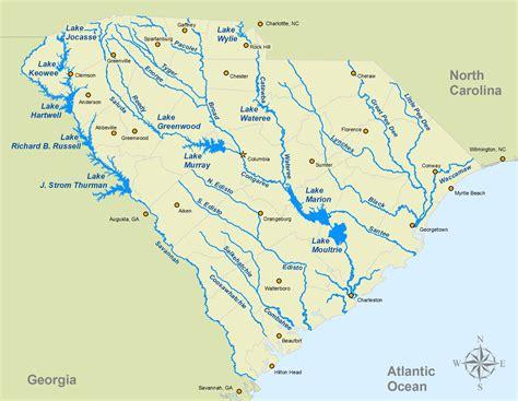 river map of carolina blank map of south carolina rivers