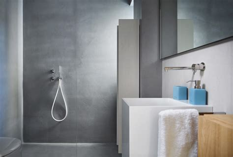 bagni senza piastrelle rivestimento bagno moderno con microtopping