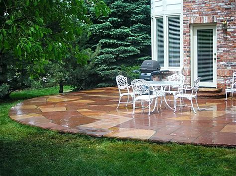 backyard patios flagstone masonry contractor custom flagstone patios walkways