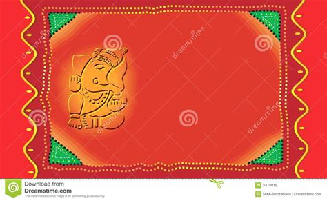 Invitation Letter Format For Ganpati Ganesh On Invitation Card Royalty Free Stock Images Image 3478019