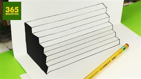 ilusiones opticas faciles de hacer a mano ilusiones opticas escalera imposible en 3d dibujos