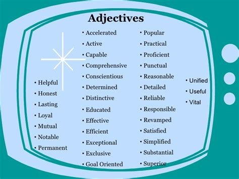 adjectives to use in resume nmdnconference exle