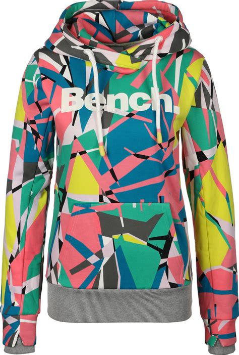 clothes her bench bench her print corp w hoodie yellow pink blue