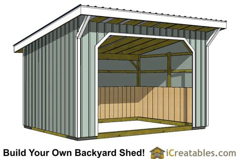 Run In Shed Plans by 12x16 Run In Shed Plans With Wood Foundation