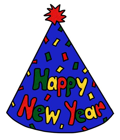 new year s party hats coloring pages new year s eve party hat clipart clipart suggest