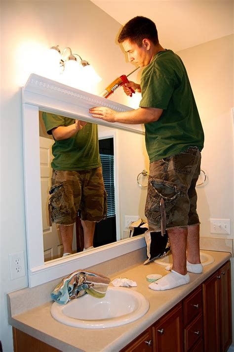 mirror trim for bathroom mirrors best 25 framed mirrors ideas on