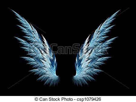 Sayap Wings Sayap Bidadari 45x35cm azul asas anjo azul feito anjo desenho fractal