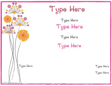 free printable gift certificates for mother s day special certificates mothers day certificate