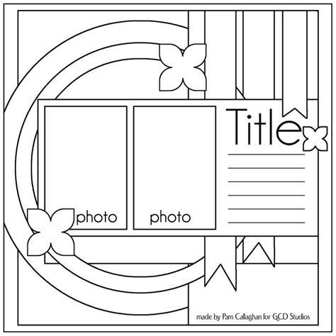 scrapbook layout templates ideas for scrapbookers two sketches and a template