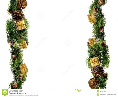 border decorations new year or decorations border design stock