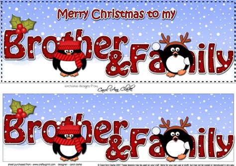 large dl merry christmas brother family  decoupage cup craftsuprint