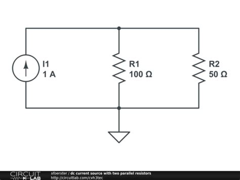 current source parallel resistors dc current source with two parallel resistors circuitlab