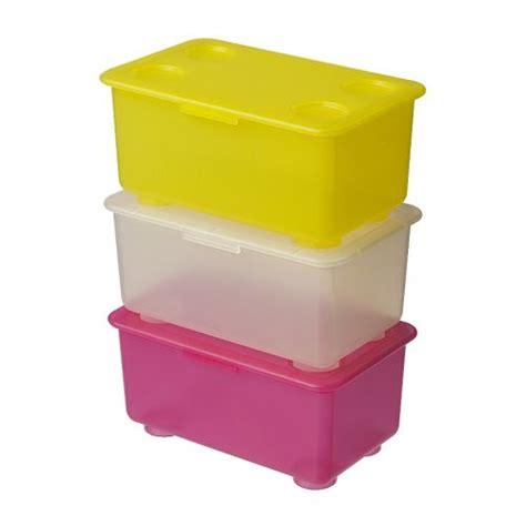 Kotak Makan Plastik Isi 3pcs 903207028 ikea r glis kotak susun simpan mainan kecil seperti