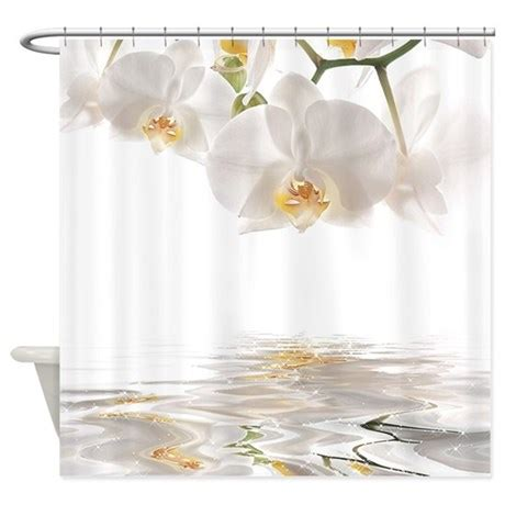 reflections shower curtain orchids reflection shower curtain by bestshowercurtains