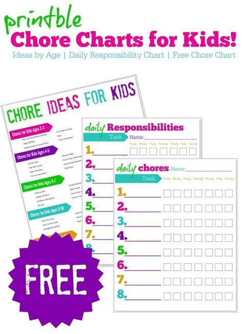 free printable chore charts for kids charts for kids free printable blank chore charts images