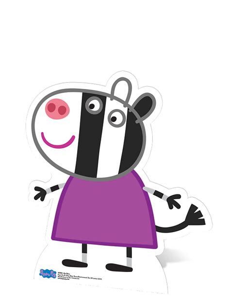 Decoration Themes by Zoe Zebra Cardboard Cutout Peppa Pig Party Decorations