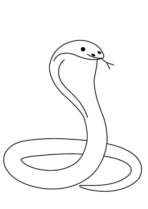 printable coloring page king cobra marvelous cobra snake coloring pages with page and