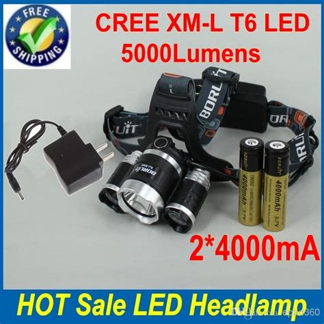 High Power Headl Cree Xm L T6 5000 Lumensboruit 5000 lm 3x cree xml t6 led headl 4 modes high power ls led headlight light with