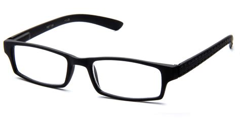 classic sleek rubber coated frame grip reading glasses