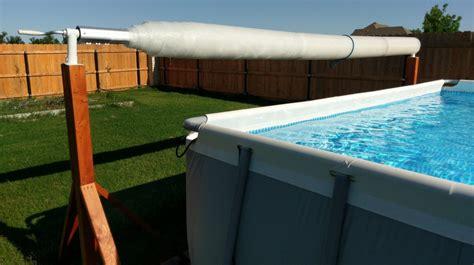solar pool cover 16x32 27ft above ground pool solar blanket reel