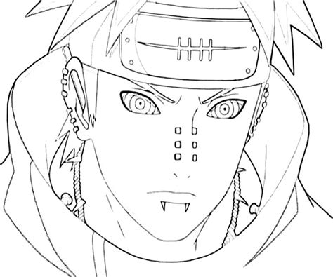 Pain Naruto Coloring Pages | naruto you pain coloring pages