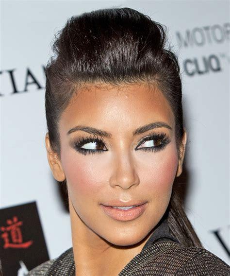 what face shape does kim kardashian have kim kardashian updo long straight formal updo hairstyle