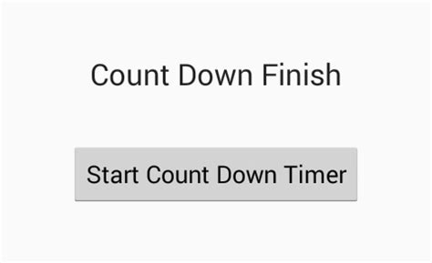 create countdown timer in android example tutorial