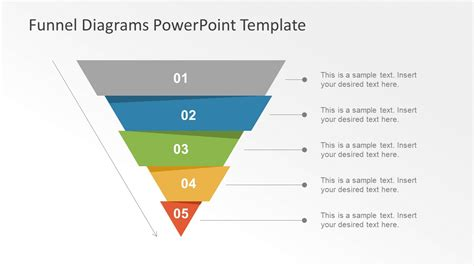 template slide of funnel chart slidemodel