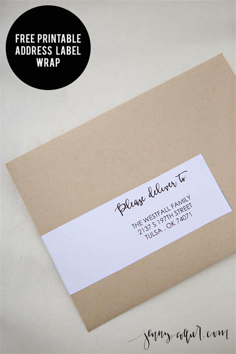 free printable envelope labels address label wrap printable 187 jenny collier blog
