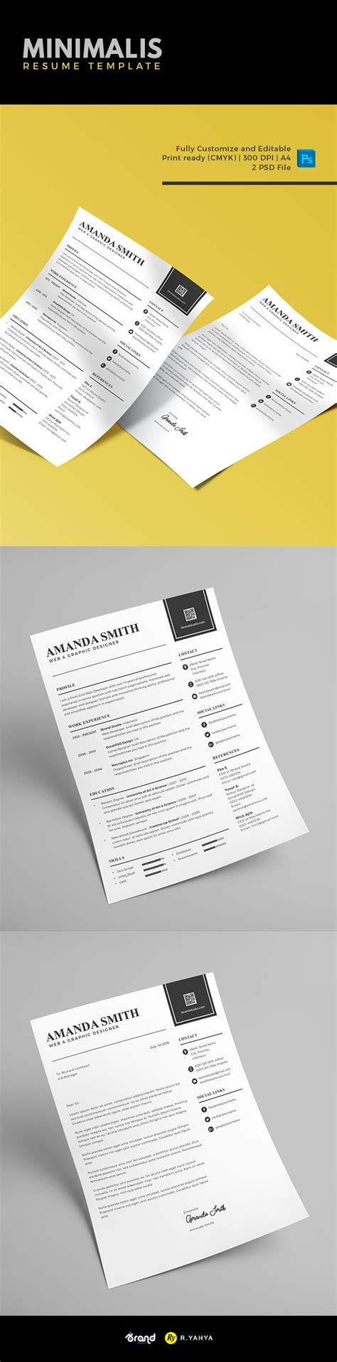 template minimalis free minimalis resume template cover letter
